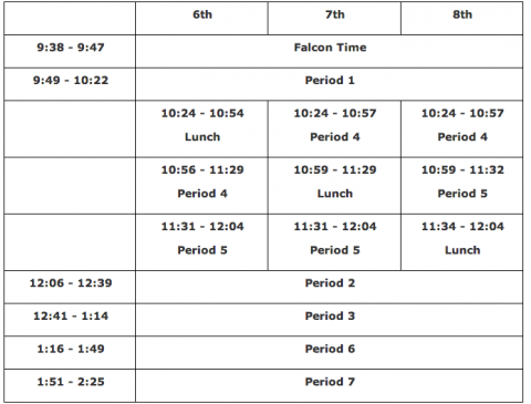 2-hour delay schedule