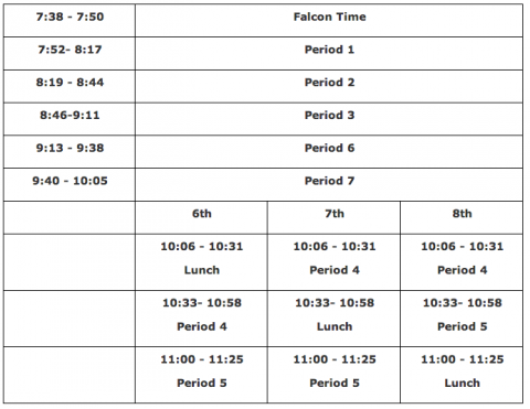 3-hour early dismissal schedule